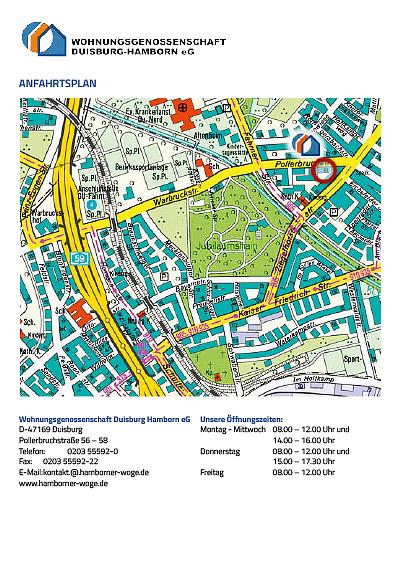 """""""Anfahrtsplan zur WoGe-Hamborn als PDF-Datei"""""""